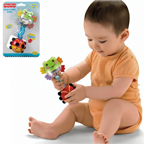 Fisher Price  Csavaros csörgõ